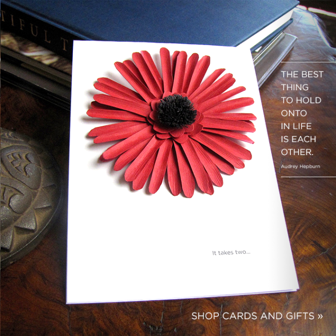 Custom Handcrafted Paper Flower Card And Gift Box