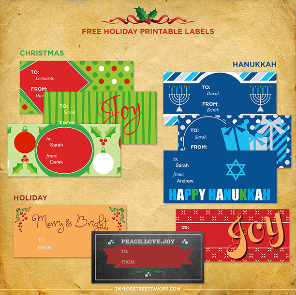 Free Holiday Printable Labels