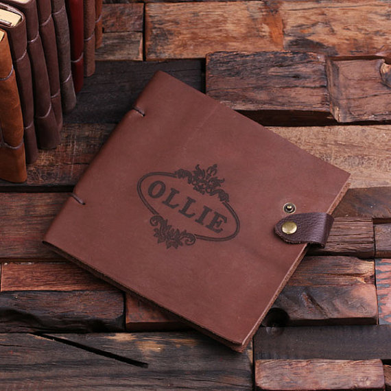 Personalized Leather Travel Diary at Taylor Street Favors