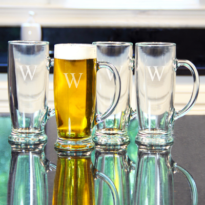 Personalized 18 oz. Craft Beer Mugs(Set of 4)
