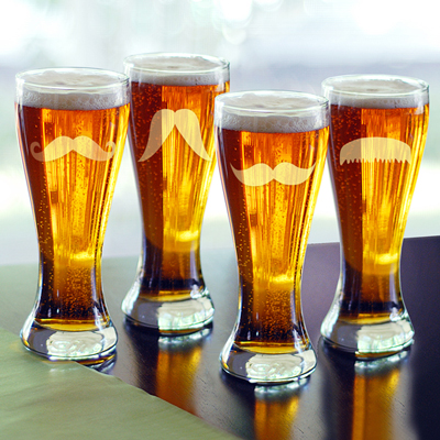 20 oz. Gentlemans Mustache Pilsners (Set of 4)