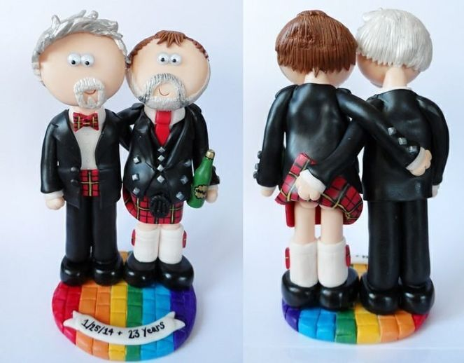 Ha what an awesome #caketopper found on pinterest. #marriageequality #gaycaketopper #gayweddingstuff #gayweddingideas #gayweddings #scottish #kilt #twogrooms #groomandgroom #lgbt #gay #instagay #weddings #weddinginspo #gaymarriage #gayscotland #love #samesexmarriage #samelove #queer #weddingplanning #wedding