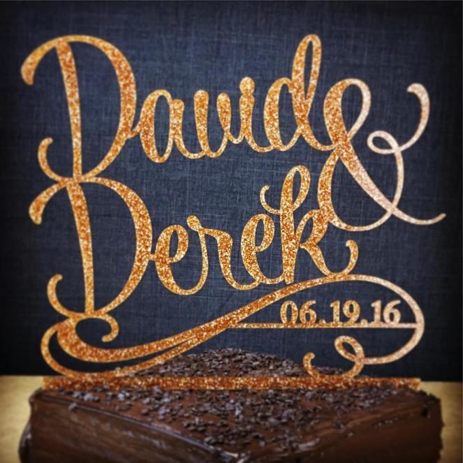 Acrylic Custom Cake Topper #caketopper #samelove #gaywedding #gayweddingcaketopper #gaycaketopper