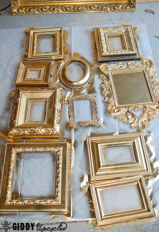 Gold Vintage Frames | Taylor Street Favors Blog