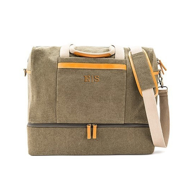 Perfect carry on choice for your next weekend trip - Genuine Leather & Canvas