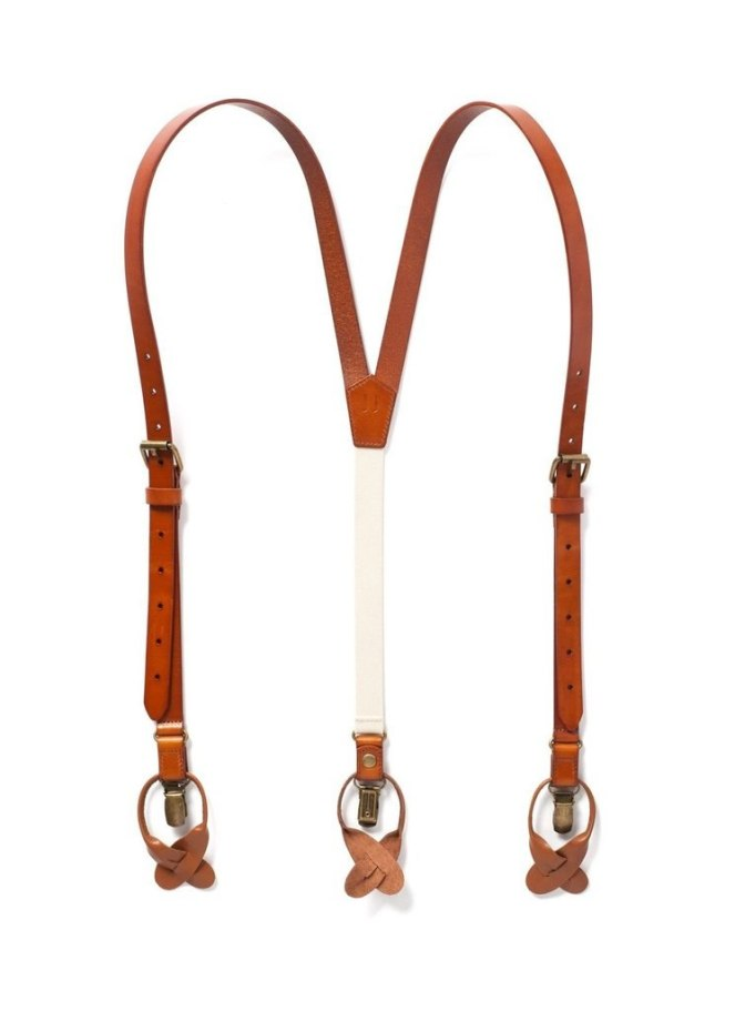 Leather Suspenders | Sierra Nevada Design | Dark Tan